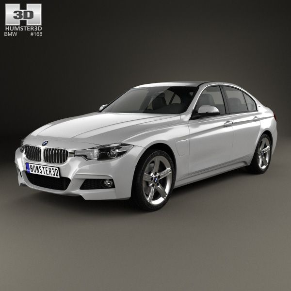 BMW 3 Series (F30) E 2016 3d Model From Hum3d.com.