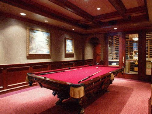 The 25 best pool table sizes ideas on pinterest pool for Pool room design uk