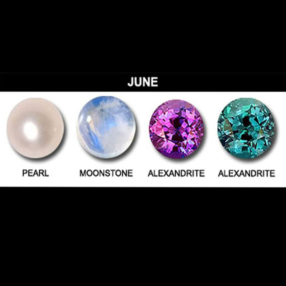 June Birthstones Pearl Alexandrite And Moonstone
