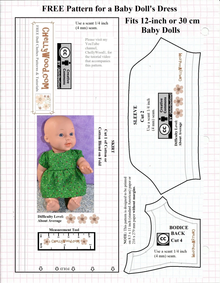 Pdfpattern Wednesday Free 12 Inch Doll Clothes Patterns Free Printable Doll Cl Baby Doll Clothes Patterns Doll Clothes Patterns Free Sewing Doll Clothes
