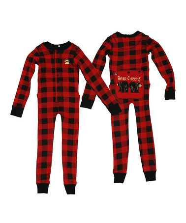 c99ac96c2 Take a look at this Red & Black Plaid Bear Cheeks Long Johns - Toddler &  Kids by Lazy One on #zulily today!