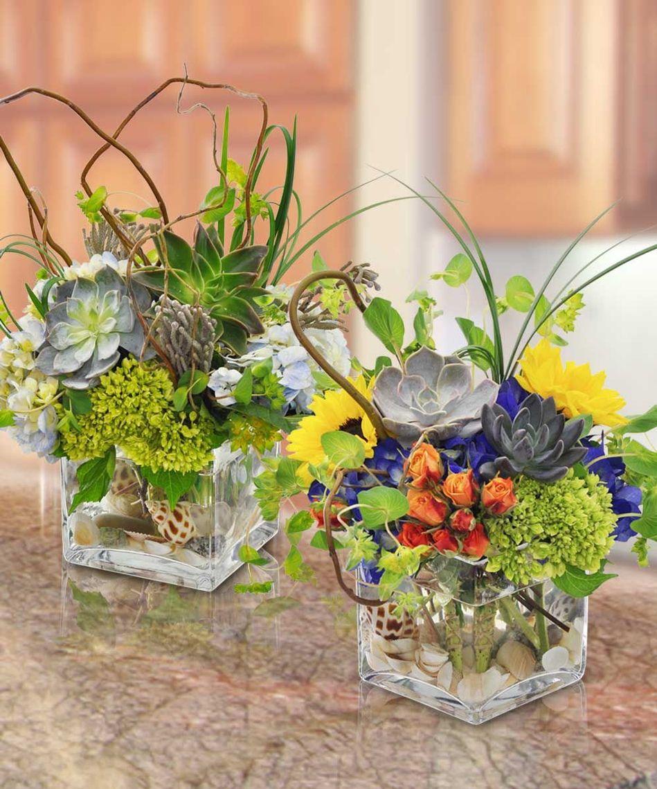 Succulents In A Floral Arrangement Floral Design Styles