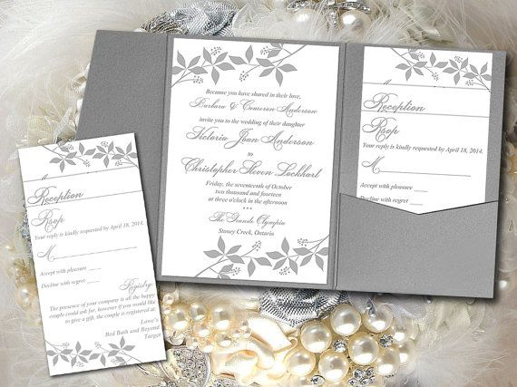 instantly download and print your own silver gray pocket wedding