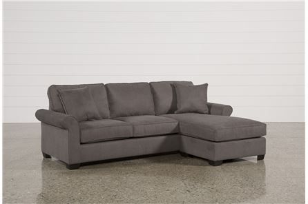 Yvonne Charcoal Sofa W Reversible Chaise Home Charcoal