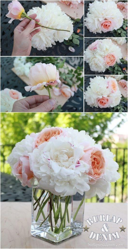 Tips For Arranging Cut Flowers From Your Garden Going To Have Fake Instead Rocks And Black Lace Wred Around The Vase With A Wr