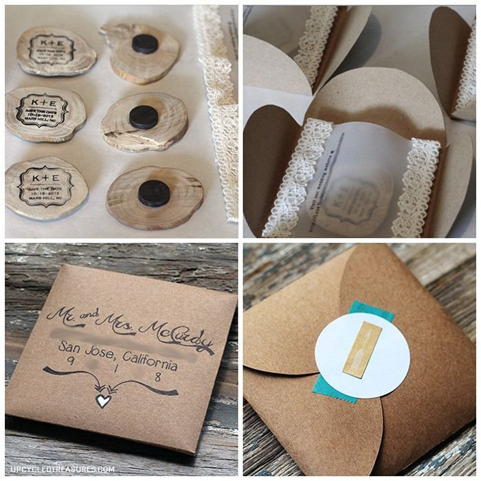 Diy Rustic Chic Save The Date Envelope Ideas For Wedding Invitations Diy Save The Dates Diy Wedding Favors Wedding Invitations Diy