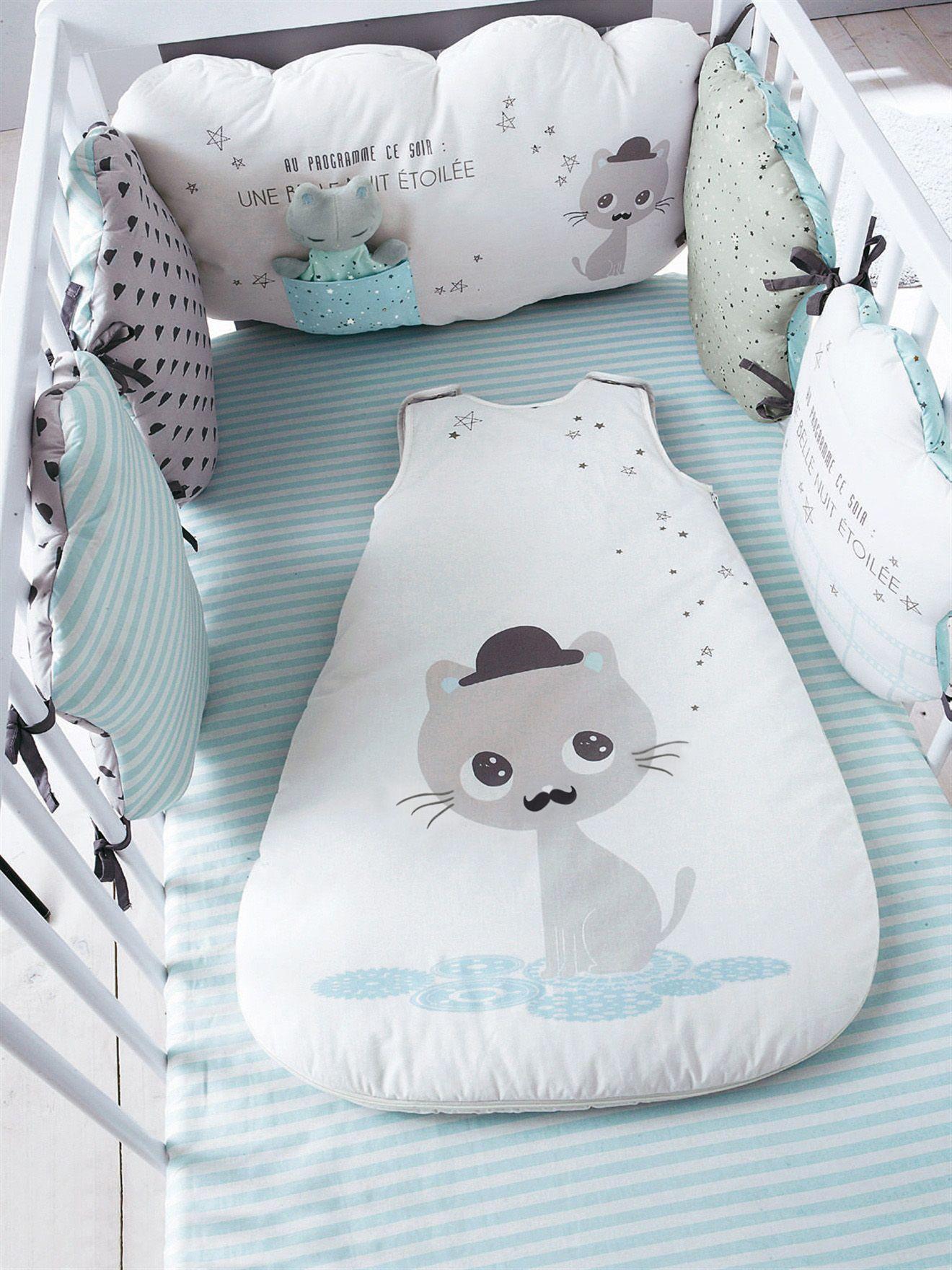 Silhouette Tour de lit bébé modulable Miaous\'tach + Gigoteuse sans ...