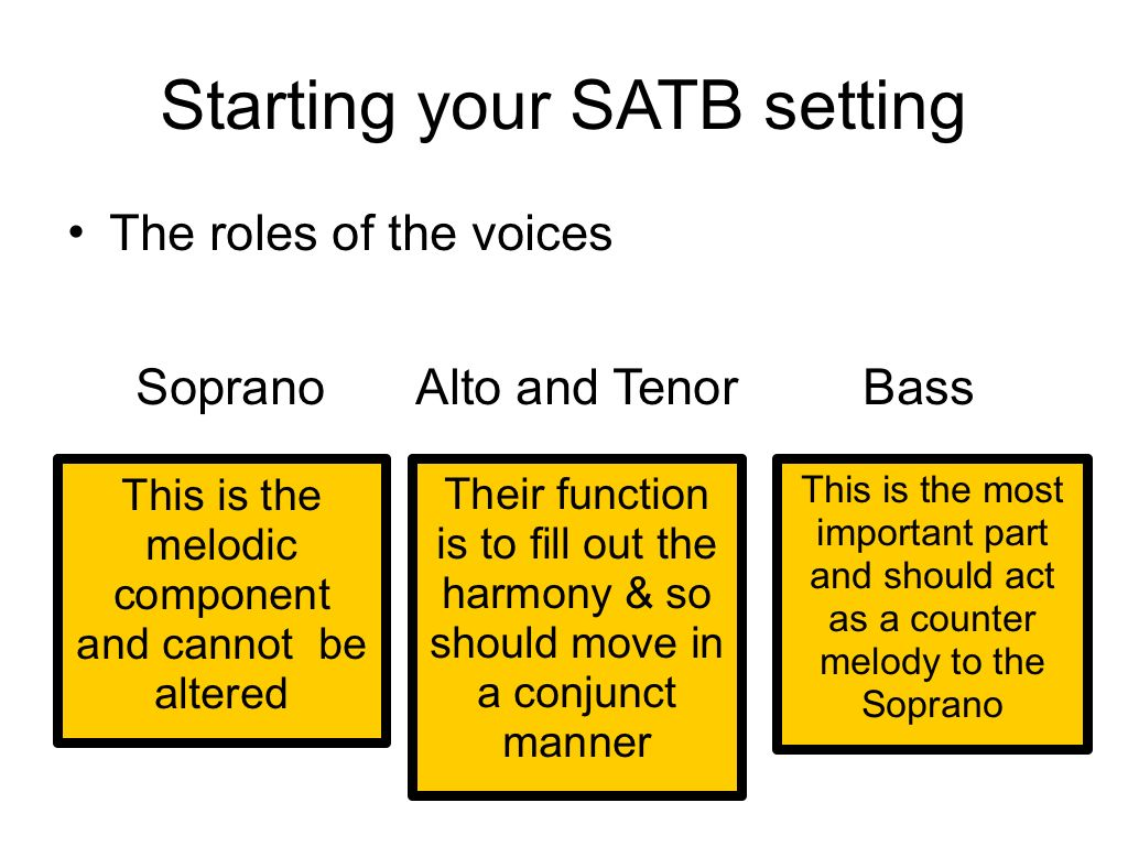 SATB functions