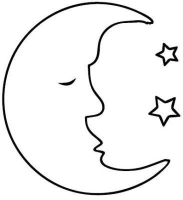 Dibujos De La Luna Llena Para Colorear Sanat Sanat Etkinlikleri