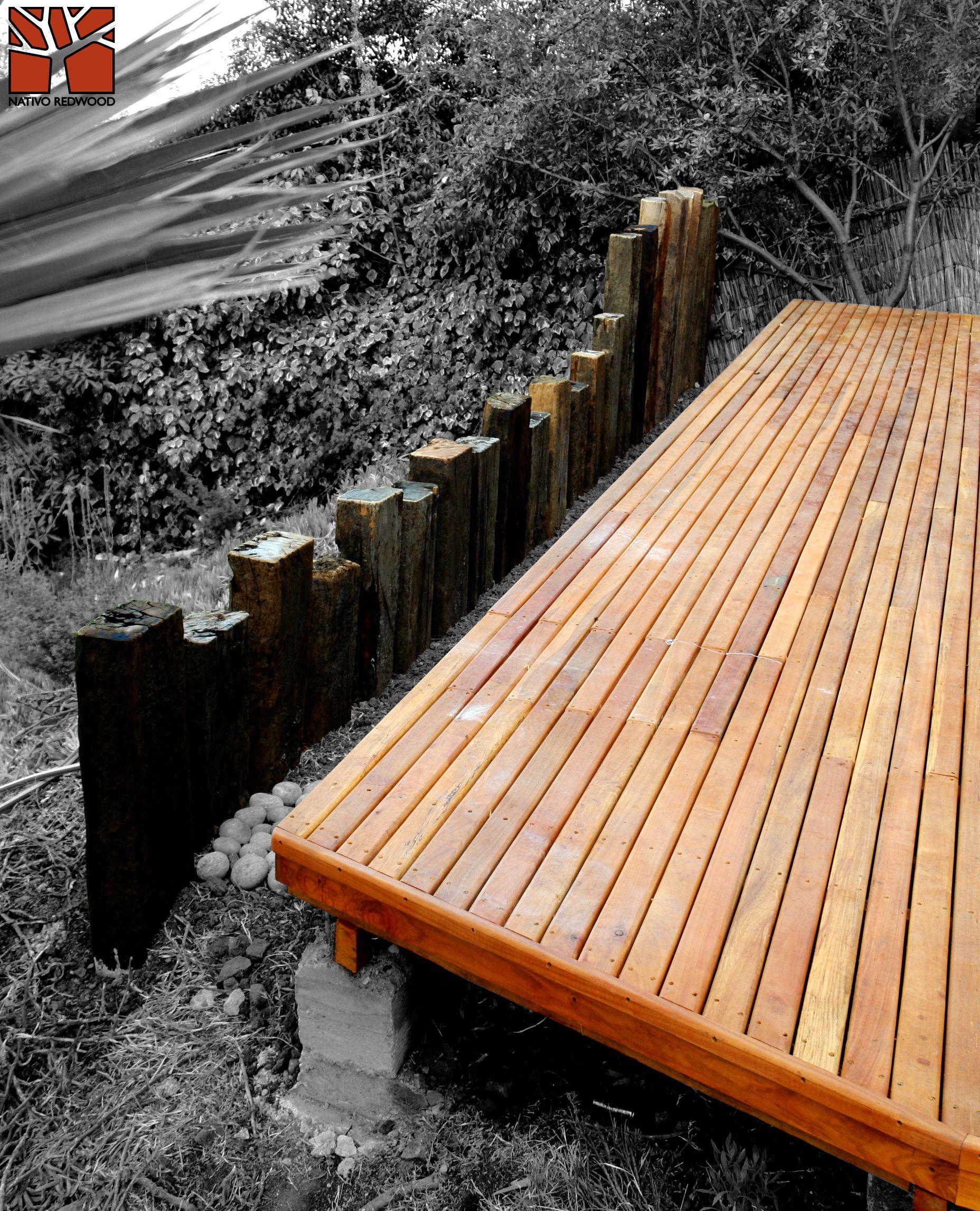 Nativo redwood terraza en casa en la reina estructura - Estructuras metalicas para terrazas ...