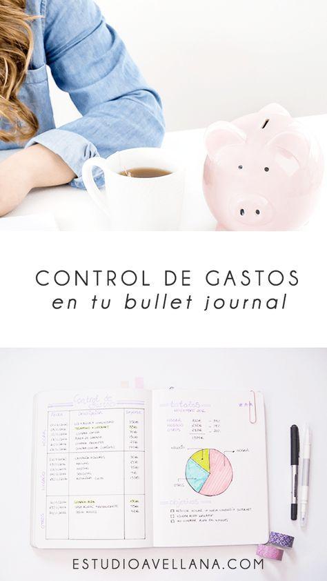 control de gastos en el bullet journal
