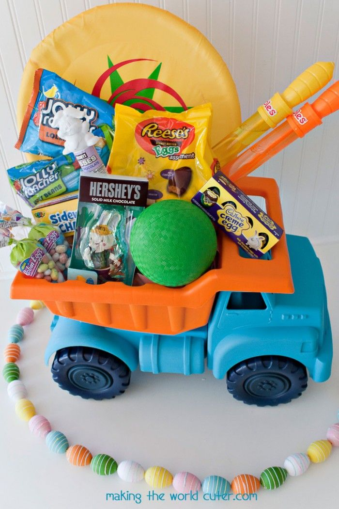 How to create fun and unique easter baskets for boys easter creating cute and unique easter baskets for boys this dump truck one is so cute negle Gallery