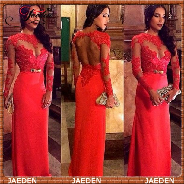 cute wine red dress - lace dress - bell sleeve dress - long sleeve
