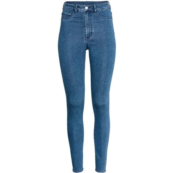 52c56d1542a89 H&M Super Skinny High Jeggings $17.99 ($20) ❤ liked on Polyvore featuring  pants, leggings, high waisted jean leggings, high waisted leggings, high  rise ...