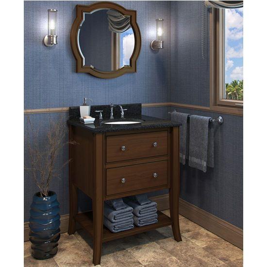 Gallery Website This Jeffrey Alexander Philadelphia Classic Bathroom Vanity with Granite Top u Sink has a rich chocolate