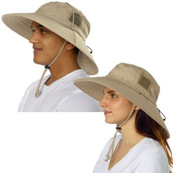 Sun Protection Zone Adult Unisex Booney Hat - Khaki  6a11a5a430d6