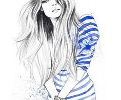 Cute Drawings Of Girls With Long Hair In 2020 Cute Girl Drawing Illustration Girl Drawing