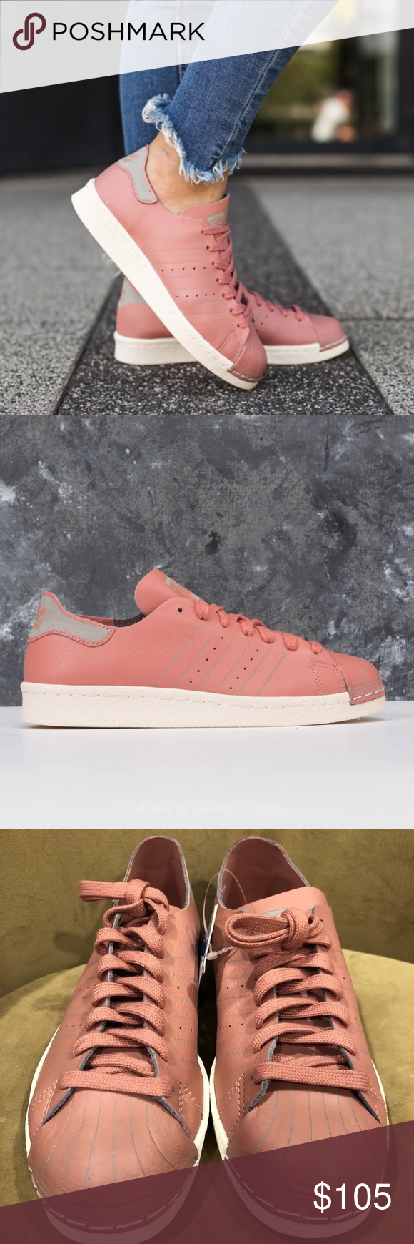 2b3ea7e914ef Women s 80 s Superstars Deacon ( Size 8) -Brand new in box -100% authentic  -Excellent condition -Ash Pink White Gray color way -Size 8 women -Ships  doubled ...