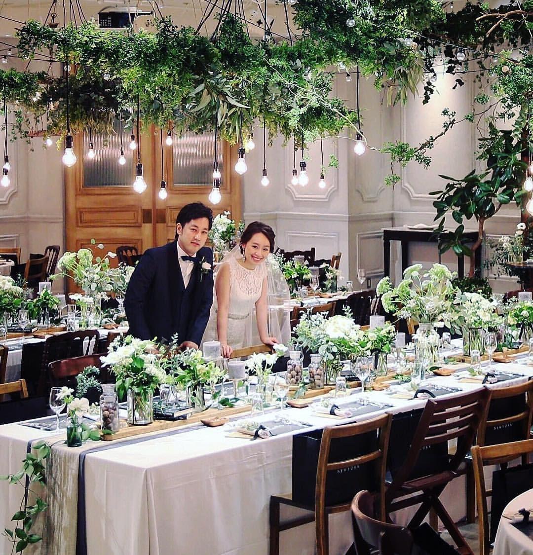 会場コーディネート グリーンいっぱいの大好きなbanquet 披露宴