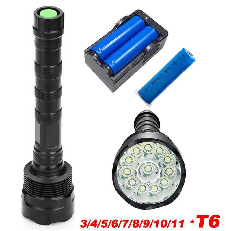 50000Lumens Cree-XML T6 Zoomable Tactical LED 18650 Flashlight Torch Lamp Light