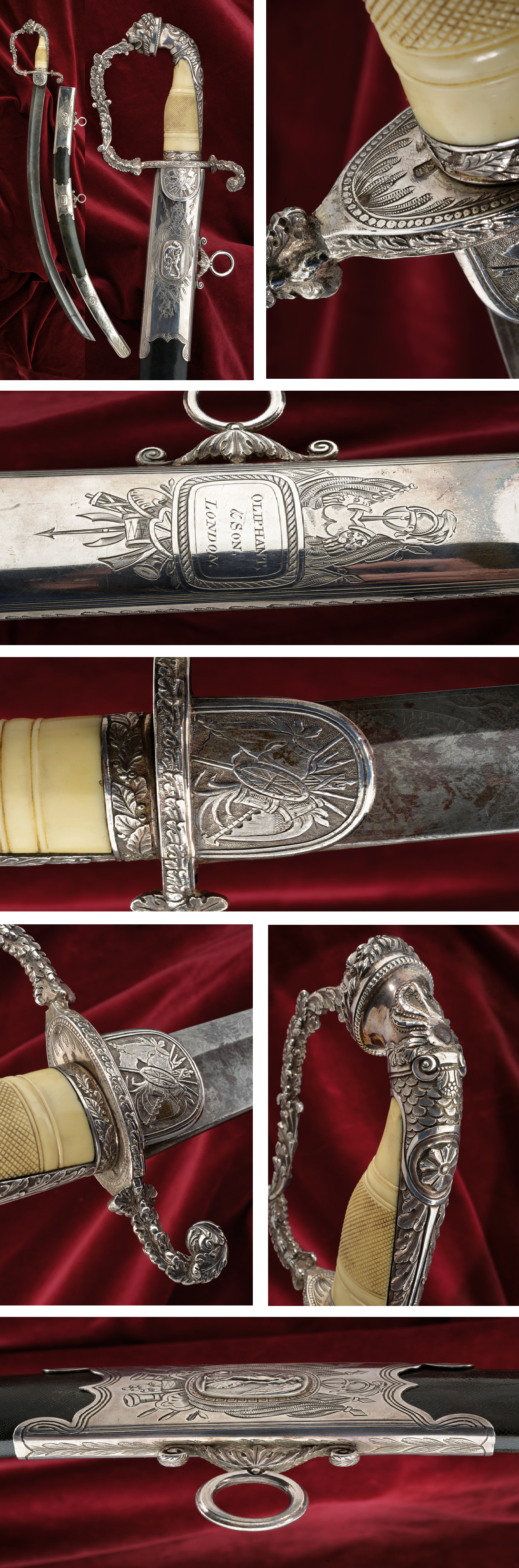 An outstanding silver mounted luxury sabre presented to Major Richard Kelly: provenance: London dating: first quarter of the 19th Century