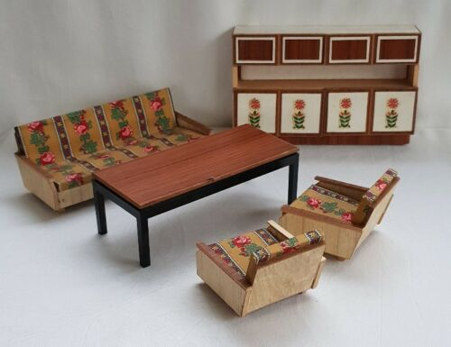 Altmann Living Room Cupboard Table Chair Sofa Furniture Wood Vintage Doll Ebay Sofa Furniture Living Room Cupboards Furniture