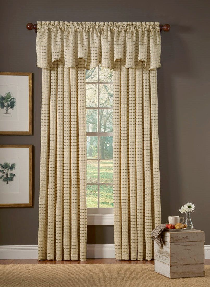 Curtain valance ideas modern furniture windows curtains for Window design on wall