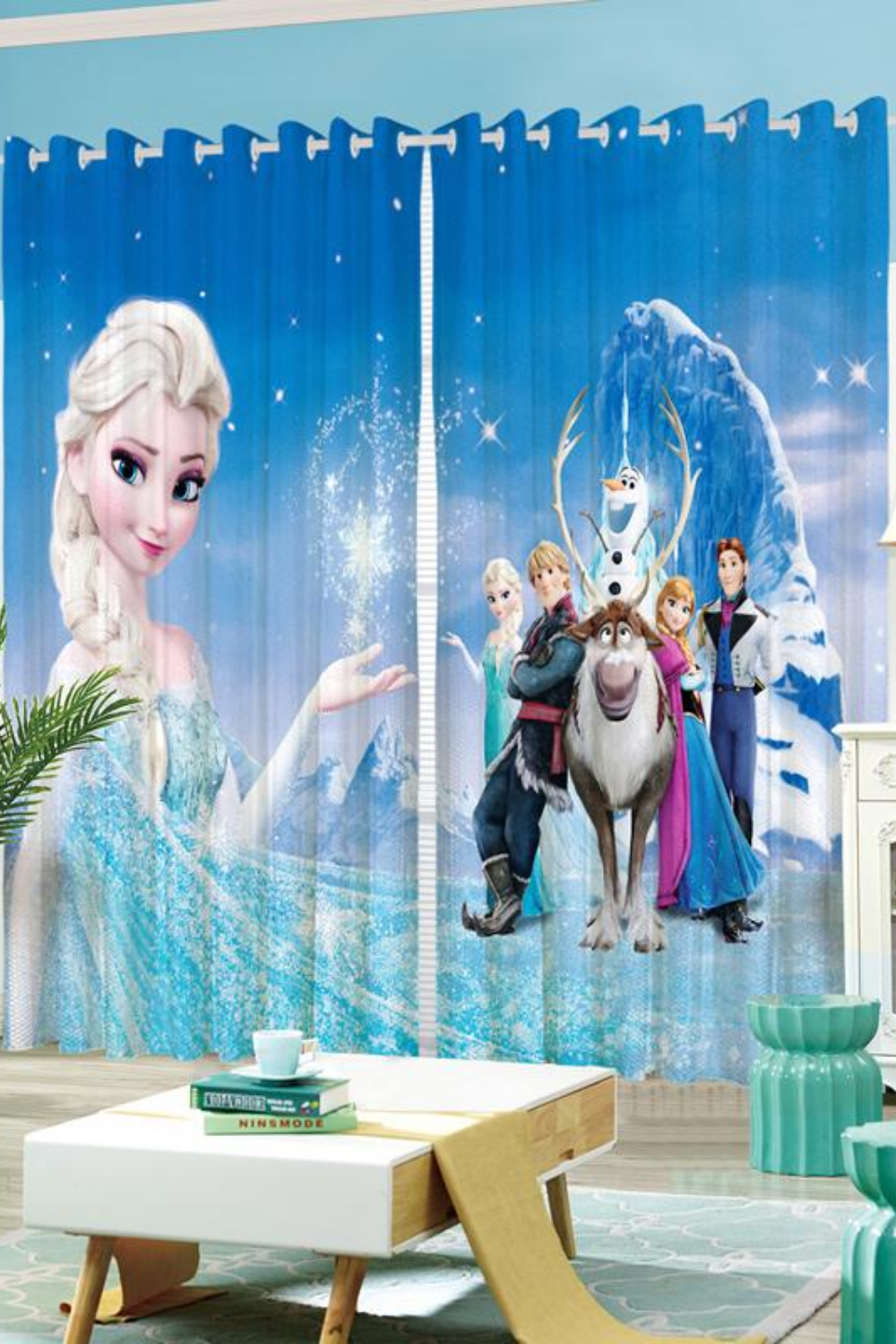 Disney Frozen Elsa 3d Digital High Definition Bright Printed Curtains For Kids Room In 2020 Kids Curtains Kids Room Disney Frozen