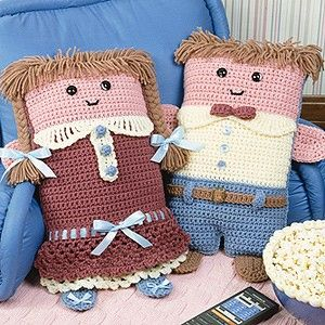 Leisure Arts - Pillow Dolls Crochet Patterns ePattern, $ 4.99 (http://www.leisurearts.com/products/pillow-dolls-crochet-patterns-digital-download.html). More kinda cute!!!