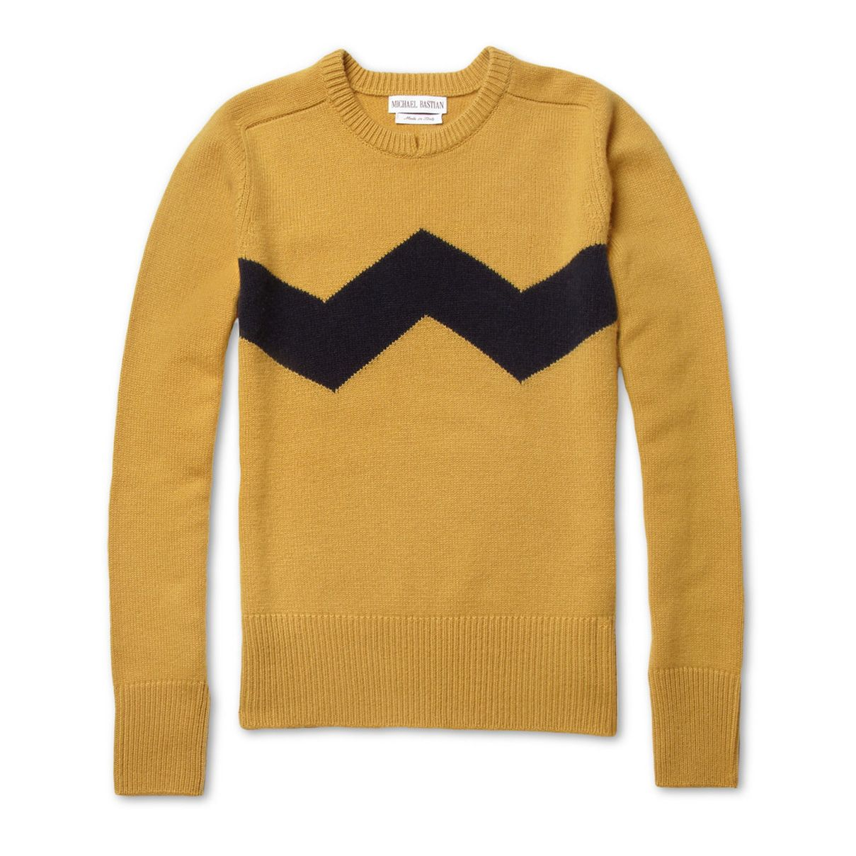 MICHAEL BASTIAN's Charlie Brown sweater is the Peanuts | Men's ...