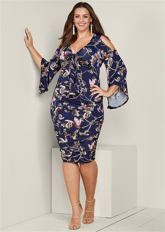 Floral print ruched dress in 2019 | Venus | Dresses, Ruched dress ...