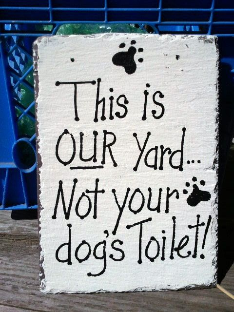 Slate Sign No Dogs In Your Yard Not Dog S Toilet