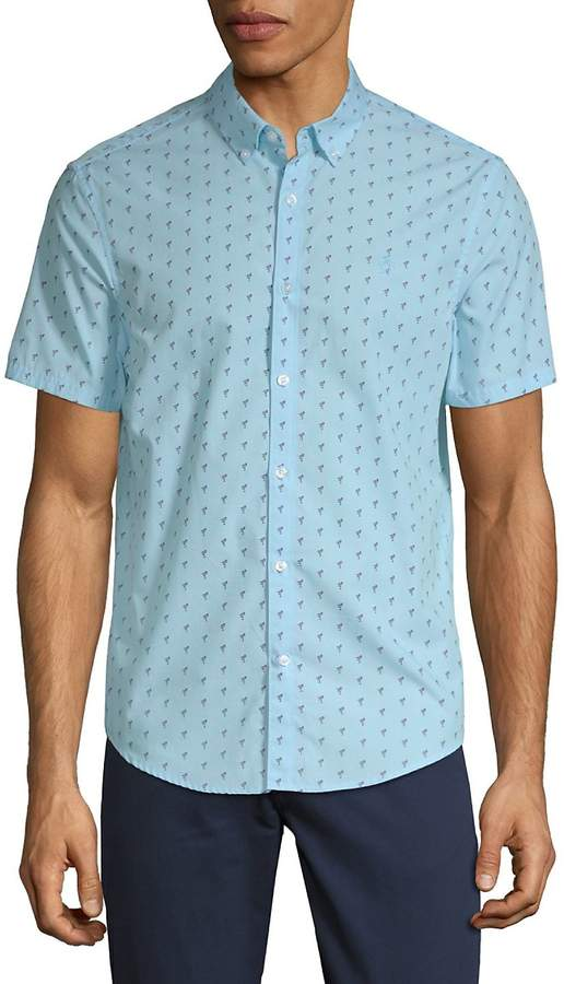 259e6c100b Original Penguin Men's Flamingo-Print Shirt Flamingo Print, Flamingos,  Printed Shirts, Penguin