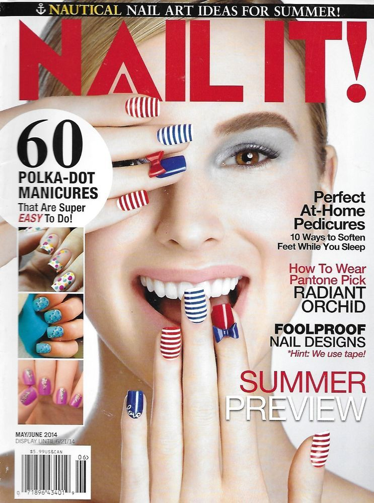 Nail It magazine Summer tips Polka dot manicures Radiant orchid ...