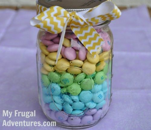 Simple easter gift idea mason jar candy easter gift and holidays easter crafts simple and inexpensive easter gift negle Images