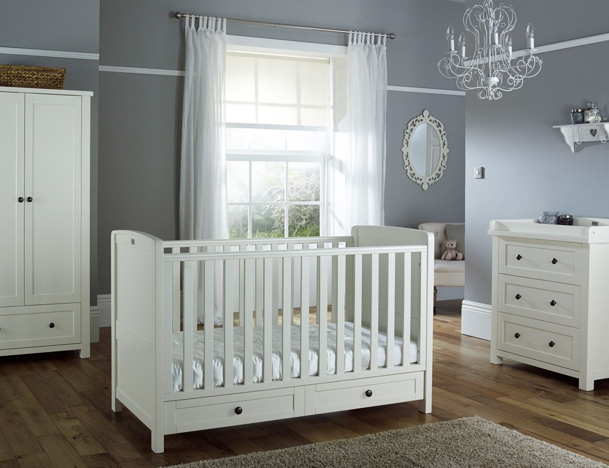 Buy Complete Nostalgia White Nursery Furniture Set From Silver