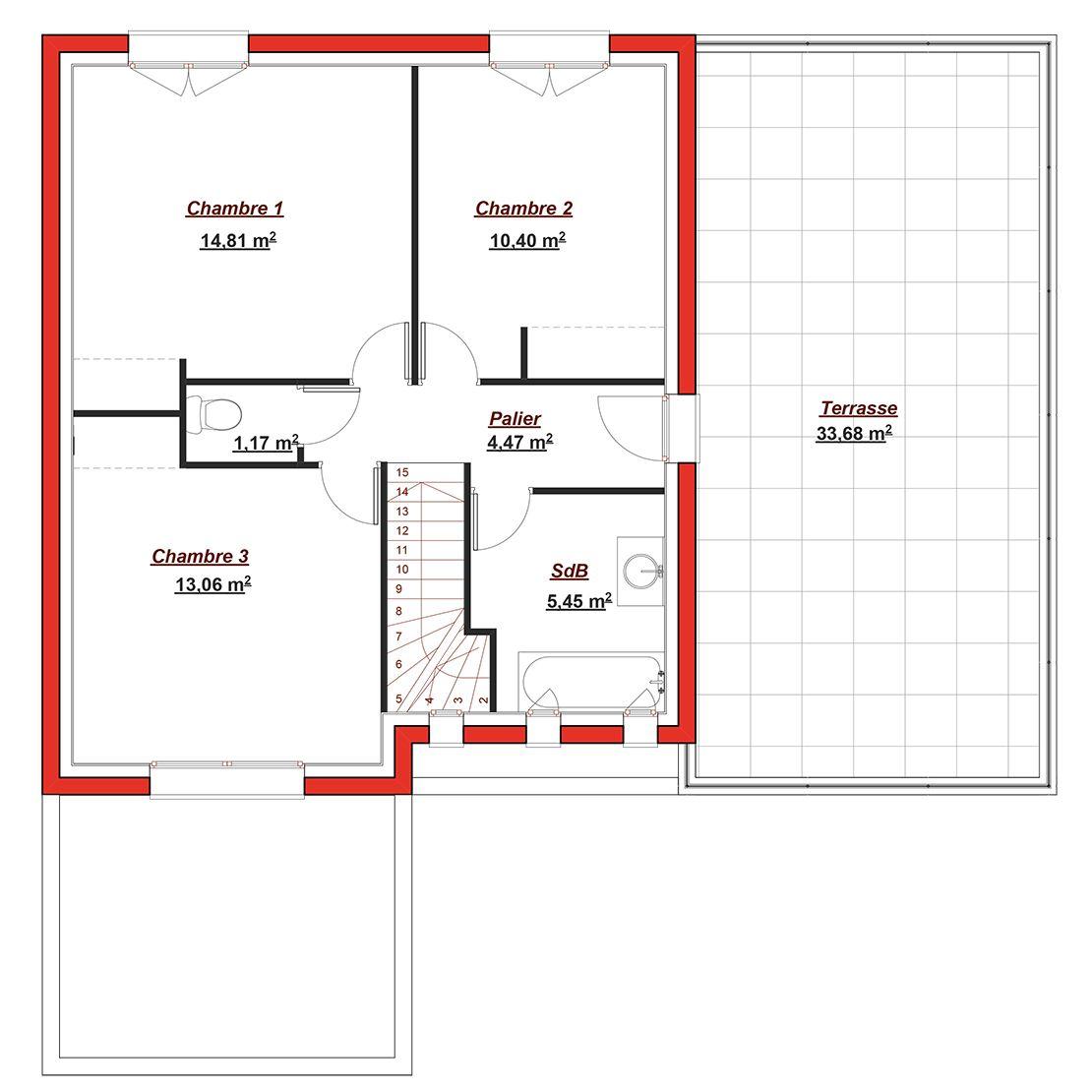 Modèle De Maison Tertre 145 Présenté Sur ConstruireSaMaison.com