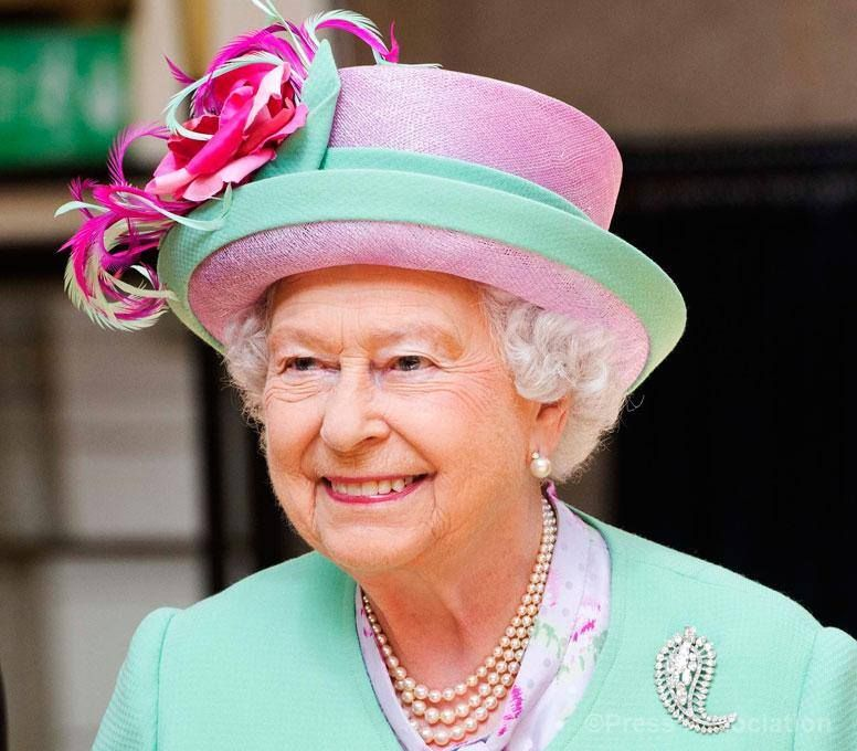 The Queen visits Westminster School to open the new sports hall. 12 June 2014.