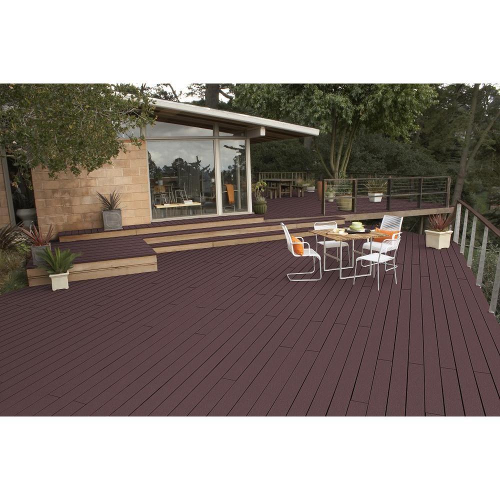 Exterior Wood Paint For Decking: BEHR Premium DeckOver 1 Gal. #SC-106 Bordeaux Solid Color
