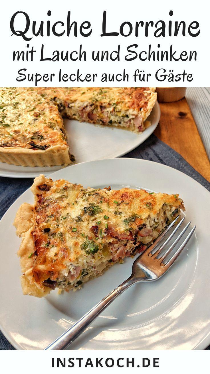 Quiche Lorraine ist eines dieser tollen einfachen Französischen Rezepte, das selbstgemacht, frisch aus dem Ofen und lauwarm gegessen einfach sensationell gut ist. Ein wenig erinnert mich eine Quiche immer an eine Mischung aus einer Pizza , einer Frittata und einer Tarte aber natürlich ist die original Quiche Lorraine für sich genommen einfach perfekt. Toll zum Mittagessen, Abendessen oder auch zum Brunch. Ein super gemütliches Familienessen. #quiche #quichelorraine #tarte #ofengericht