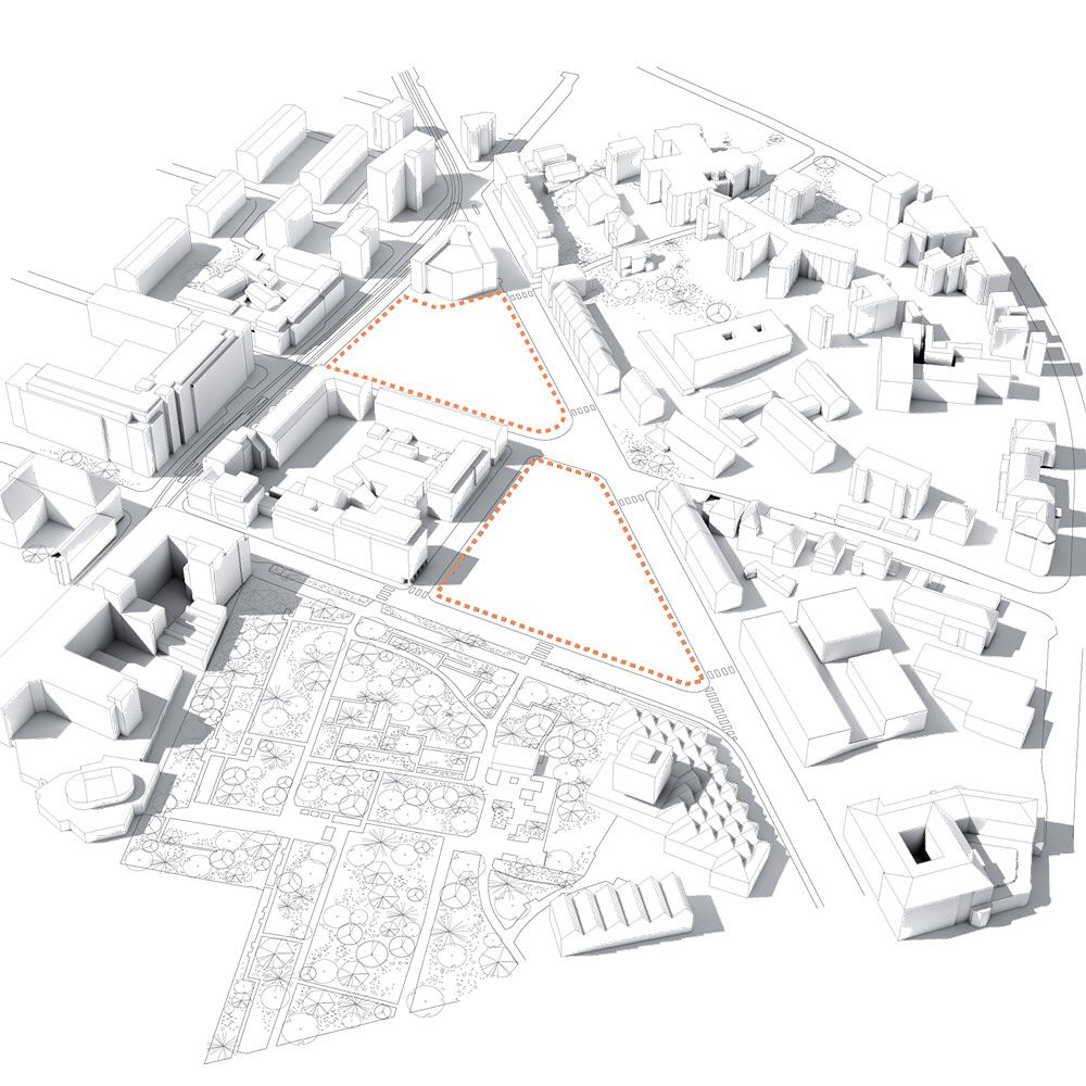 Diagrams of Duale Hochschule show how the building will