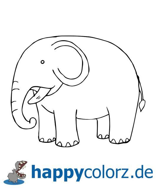 ausmalbild elefant  elefant ausmalbild elefant ausmalbild