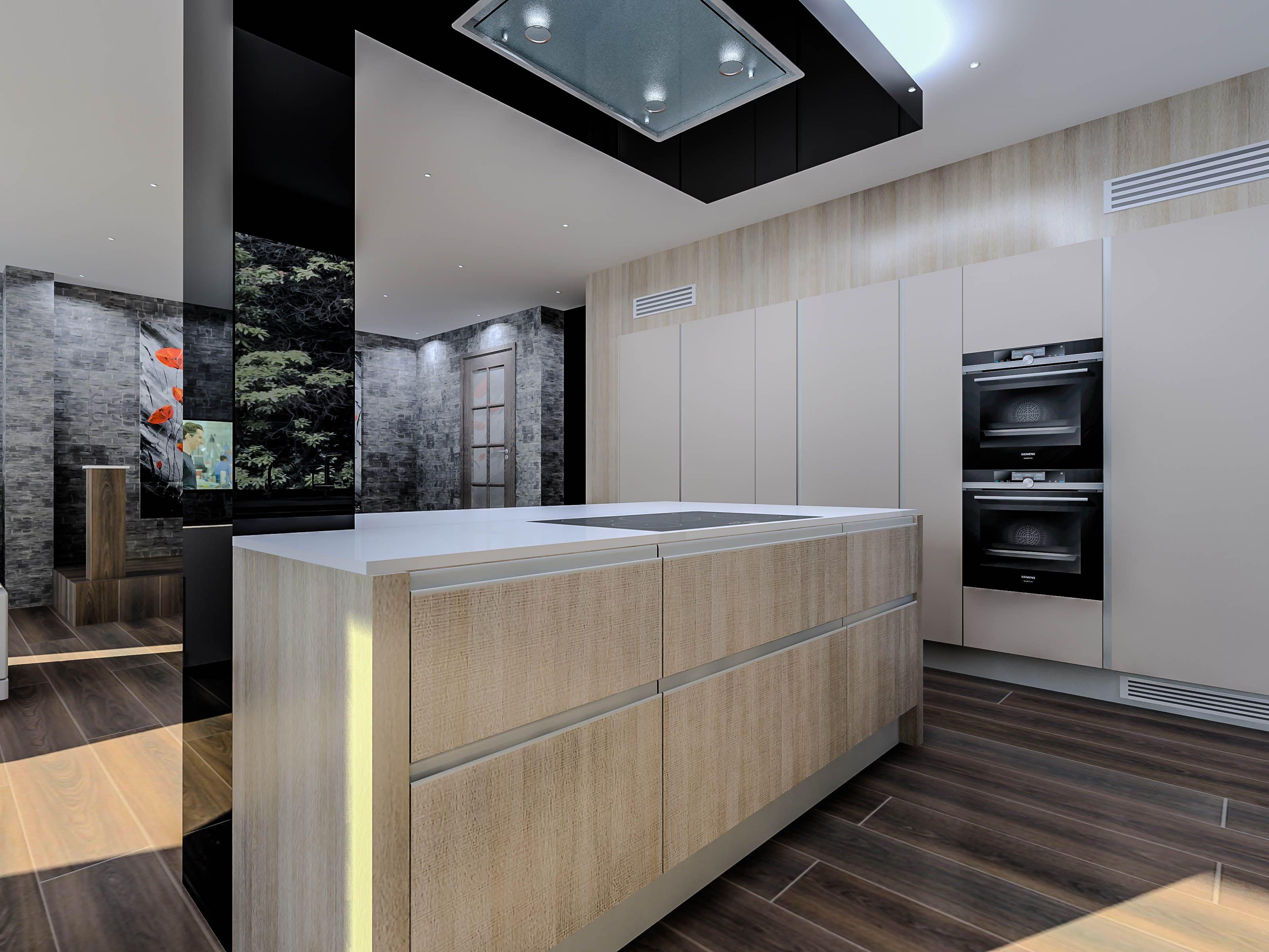 Brookhill Close, East Barnet, London, En4 Leicht Handleless Kitchen In