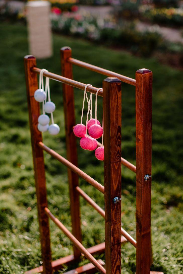 Ladderball -- an outdoor wedding game at Lewis Ginter Botanical ...