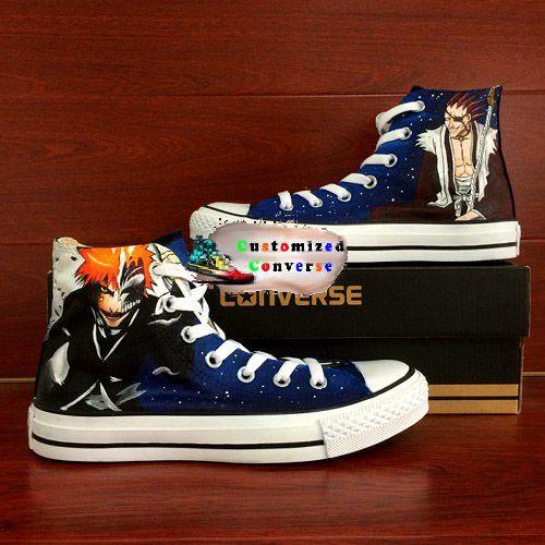 Bleach Shoes Brugerdefinerede konversionssko, Sneakers-mode, Converse  Custom converse shoes, Sneakers fashion, Converse