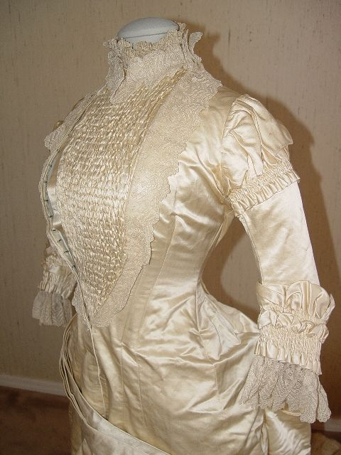 1877-1882 Natural Form Victorian Princess Gown