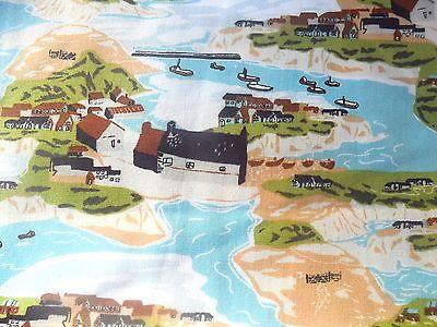 "British countryside and seaside #scenes #cotton #fabric 56"" wide, by the fq makow,  View more on the LINK: 	http://www.zeppy.io/product/gb/2/231831527963/"