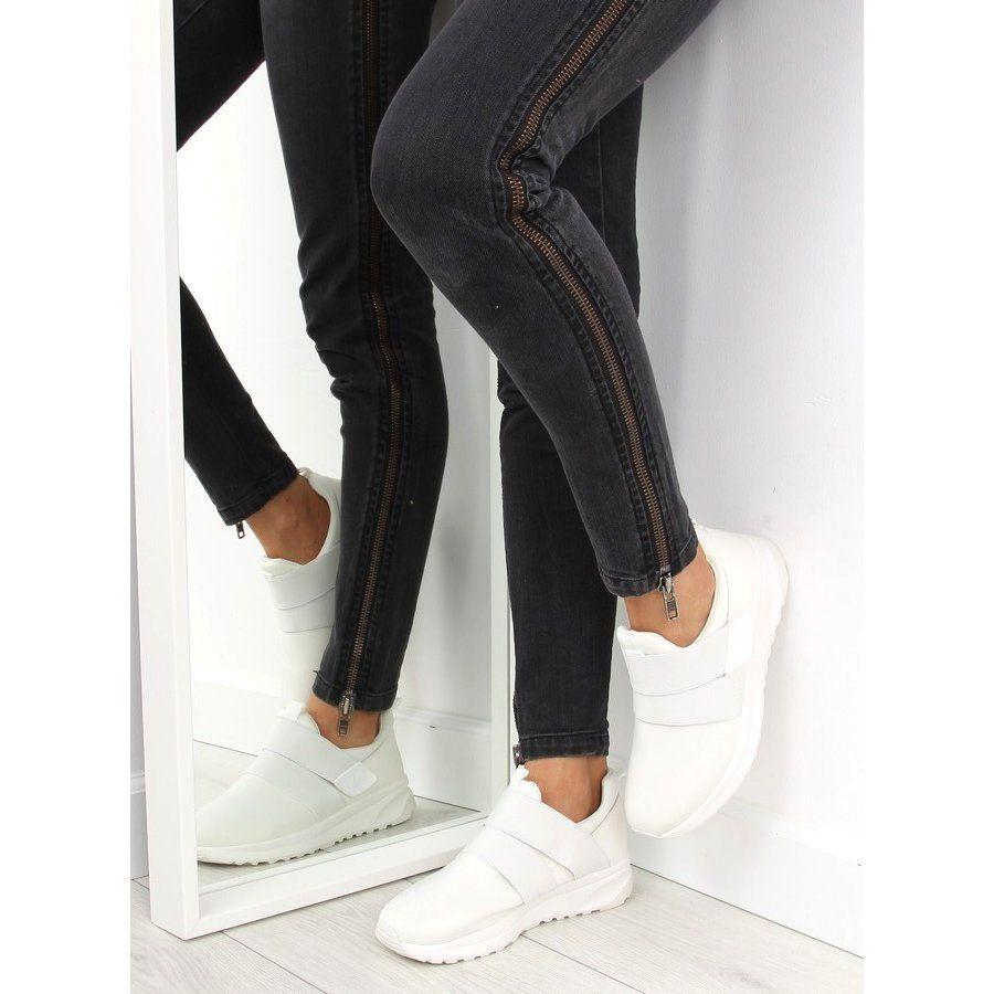 Obuwie Sportowe Damskie Biale Nb151p White Sports Women Sports Shoes Women Slip On Sneakers