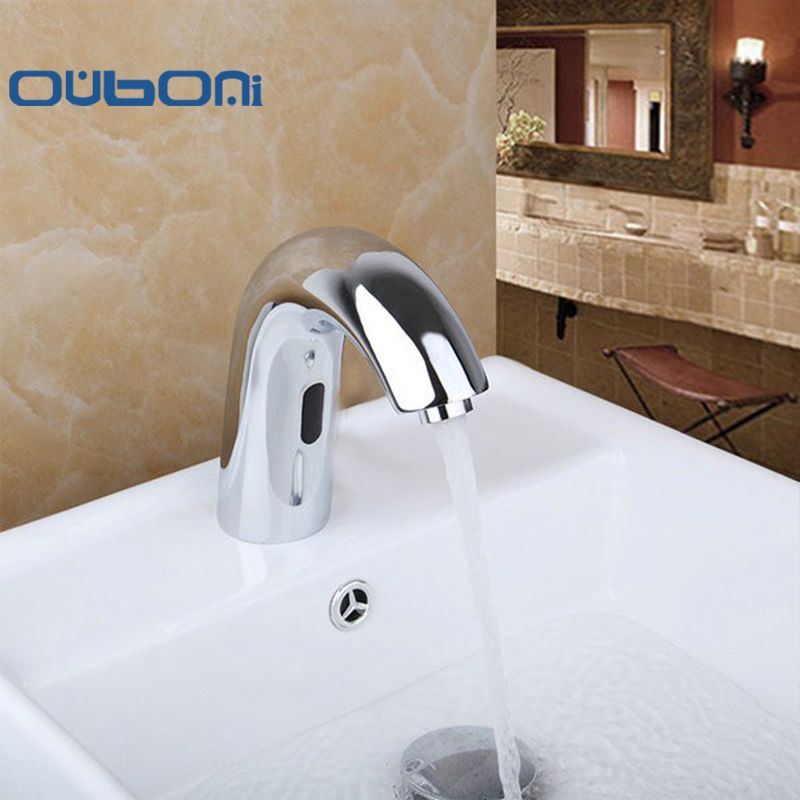 OUBONI Contemporary Hot And Cold Automatic Hands Touch Free Sensor ...
