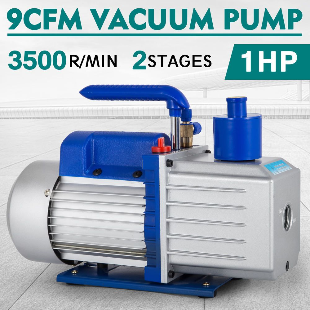 HVAC Tools 12CFM 2 Stages 1HP Refrigerant Vacuum Pump Deep HVAC Dual